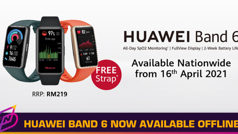 Win a HUAWEI Band 6 in the #CanYouBendChallenge