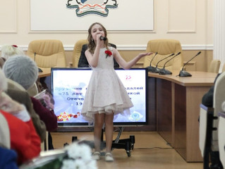 Полина Фатьянова поздравила ветеранов Великой Отечественной войны г. Новосибирска!