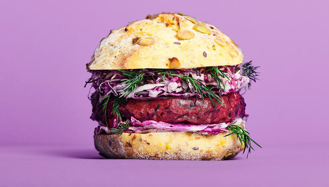 Cultiv.Ate Beetroot, Barberry and Balsamic burger patty