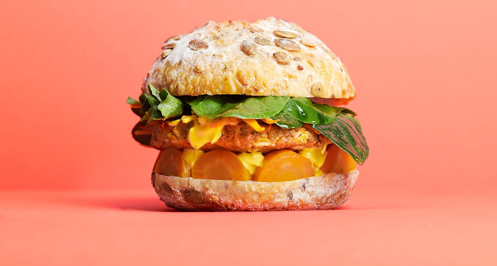 Cultiv.Ate Carrot, Date and Thyme burger patty