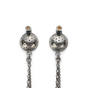 Oxidised Orb Posh Frock Earrings £110