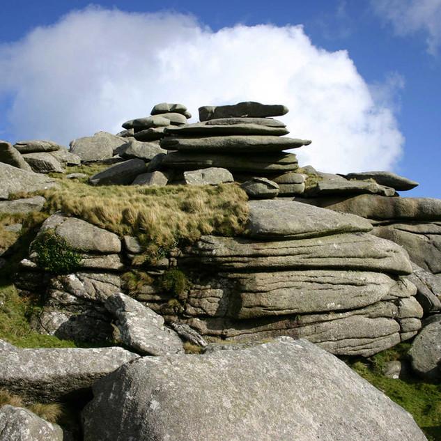 Granite rocks, Bodmin Moor.