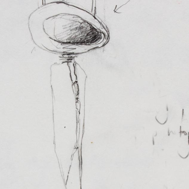 Moorland brooch sketch