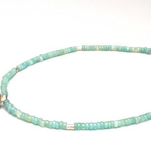 Dotty Sphere Amanzonite Necklace £85