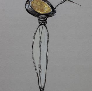 Rendered drawing of my inital Moorland Brooch