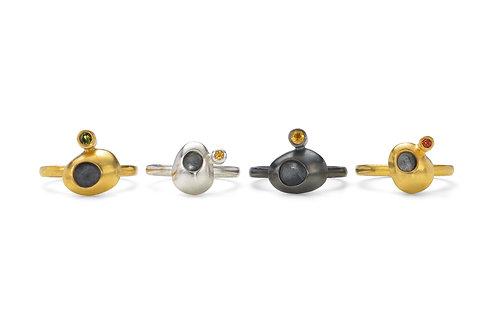 Silver / Oxidised Hawks Tor Ring