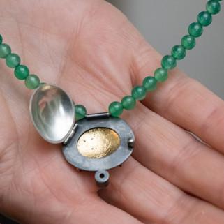 Interior of Carbilly Locket Necklace