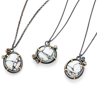 Butters Tor Locket Necklaces £260