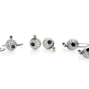 Black Void Drop Earrings £85