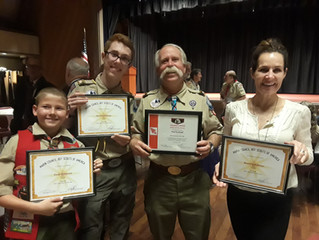Troop 59 Recognized at Marin Council Dinner