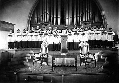 Tabor Congregational Church Choir ca 191