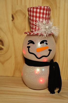 Lighted Snowman Red Hat