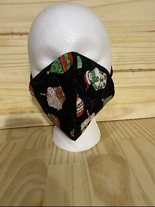 Holiday Cupcakes Adult mask