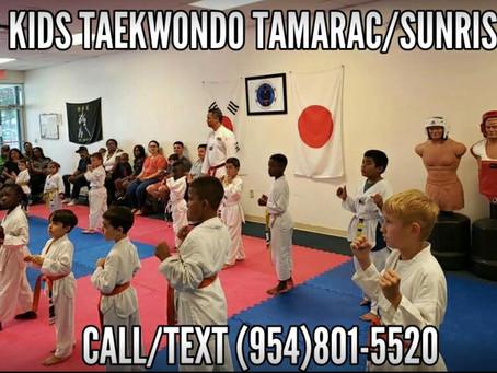 Learn Kids Traditional Sport Taekwondo in Tamarac, Sunrise, Lauderhill!