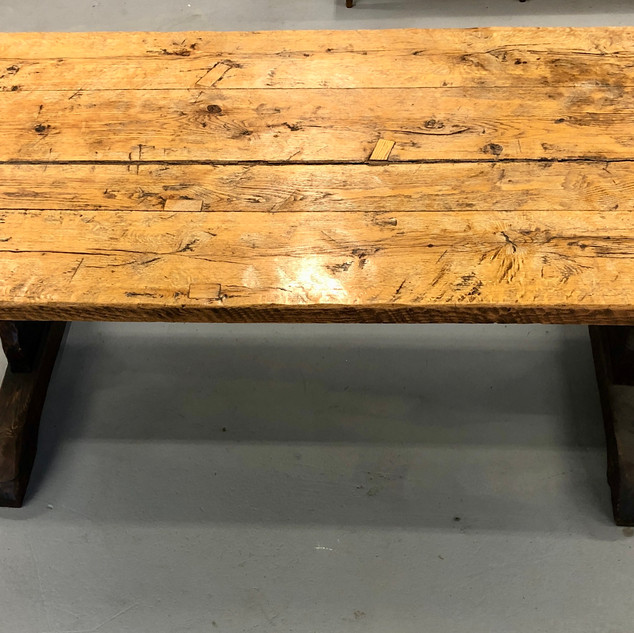 7.5 foot long, hand made Farm Table