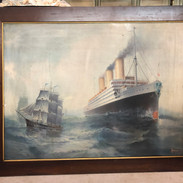 """Stunning Tin Lithograph 1911 by A F Bishop 30""""x38"""""""