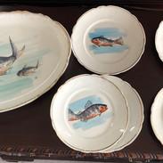London Porcelain Fish Plate set