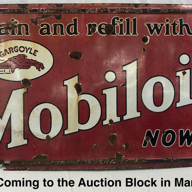 3x5' Gargoyle Mobiloil Sign