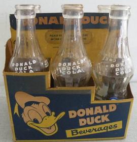 Very Rare Donald Duck Pop Bottles in Carrier