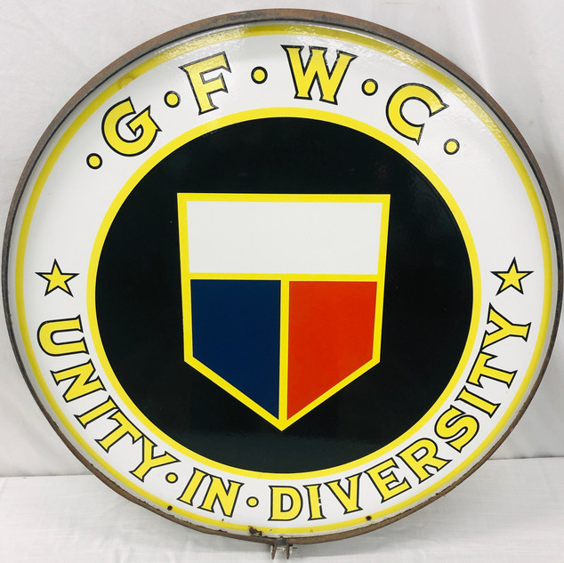 General Federation of Women's Clubs Porcelain Sign