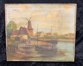 Antique Dutch Oil Painting - signed.jpeg
