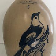 4 Gallon Jug w Cobalt Bird