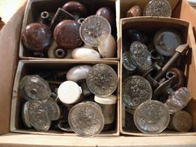 Lot of antique door knobs