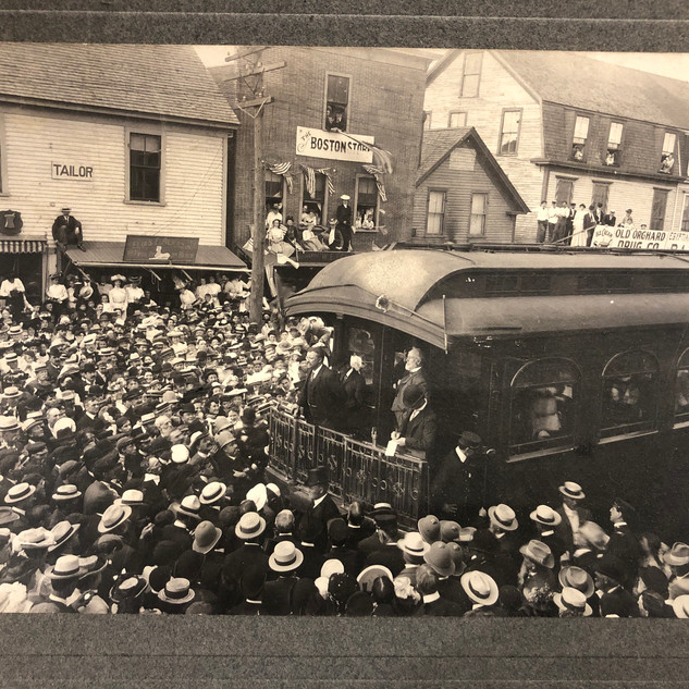 Antique Photo Roosevelt Whistle-Stop