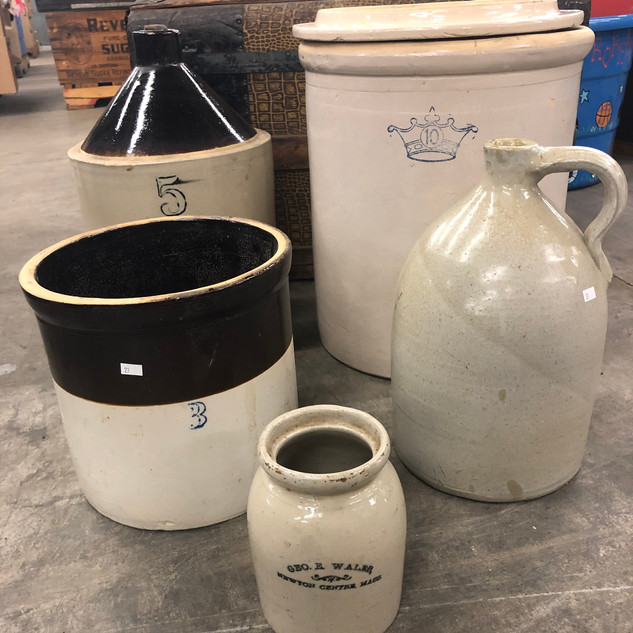 assorted stoneware & jugs