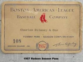 1957 Red Sox Season Pass