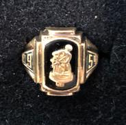 1954 Gold Gloucester High School Ring