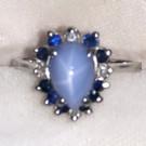 Star Sapphire & 14k ring