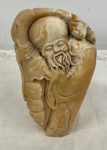 Carved Marble Deity Sculpture