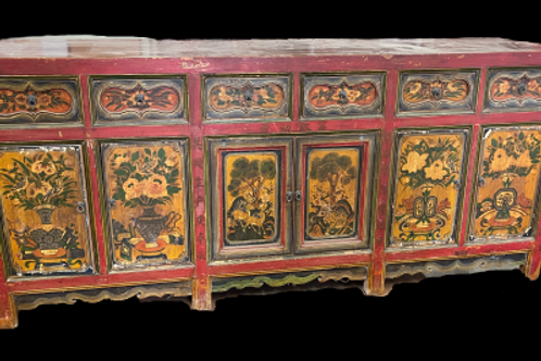 Hand Painted Antique Asian Coffer