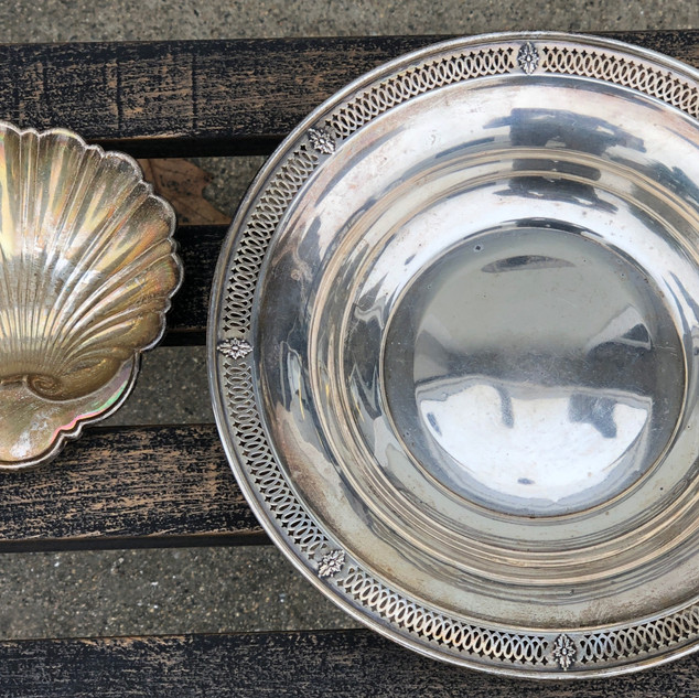 2 Marked Sterling Silver Dishes