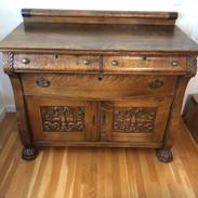 Antique Oak Buffet .jpeg