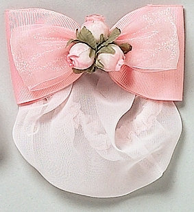 Ribbon Bow with Rosebuds Snood