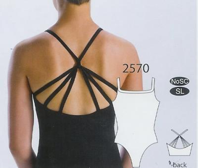 MotionWear Girls Camisole Leotard w- 3 Back Straps