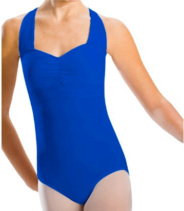 MotionWear Pinch Front Cross Back Banded Leotard