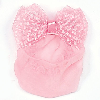 Sheer Dotted Bow Snood