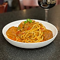 Italian Spaghetti with bolognese tomato meat sauce