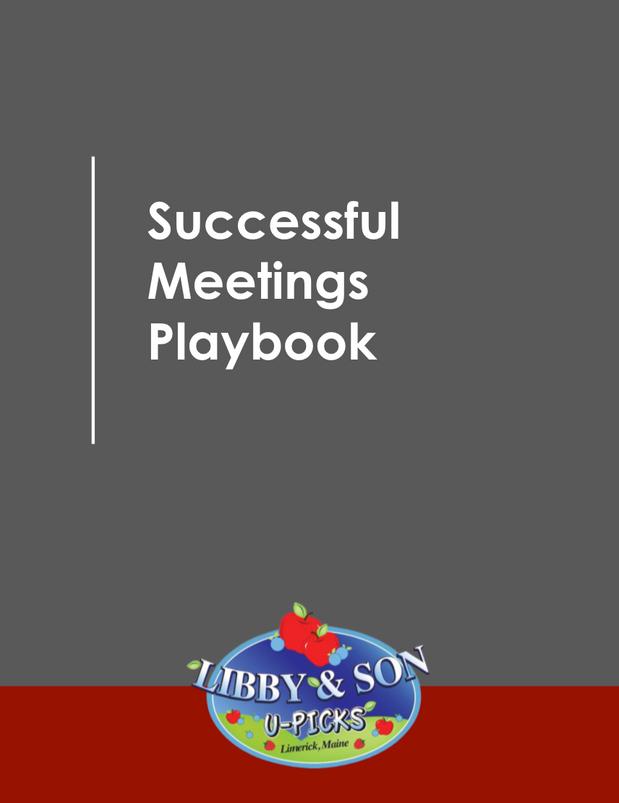 Successful Meetings Playbook