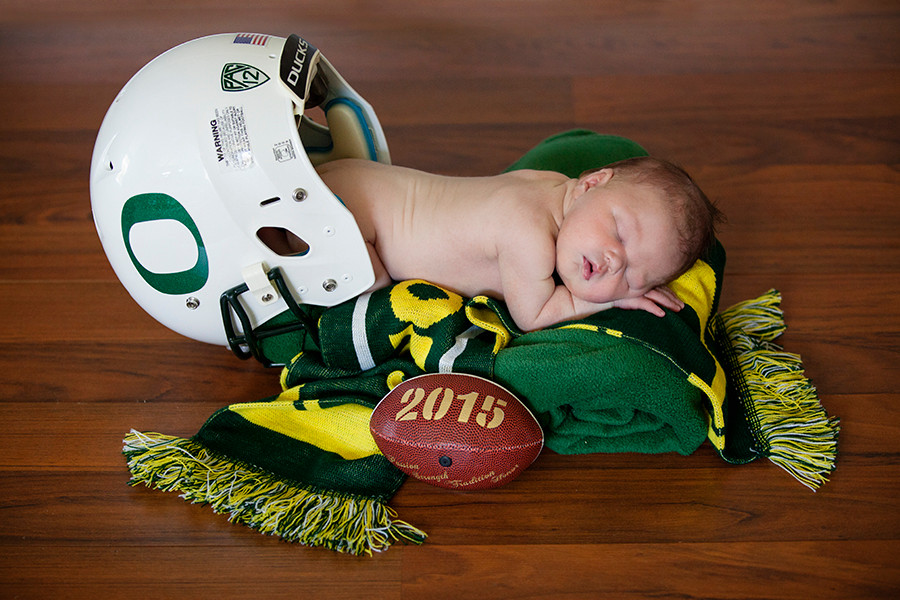 Brayden's Sports Themed Newborn Session