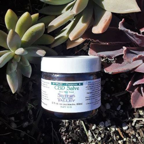 CBD Topical Salve (2 oz) New Mint Scent >250 mg CBD per jar