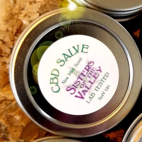 CBD Topical Salve - New Mint Scent - (1/2 oz) >50 mg CBD per tin