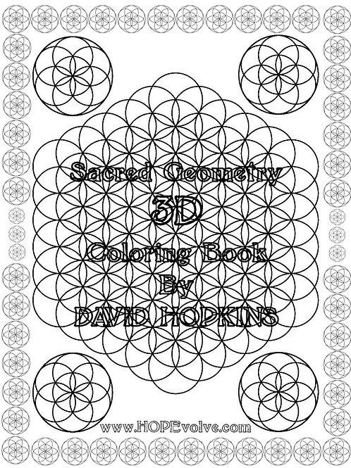 3D Sacred Geometry Coloring Book