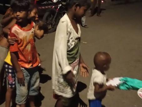 Feeding street children during lockdown