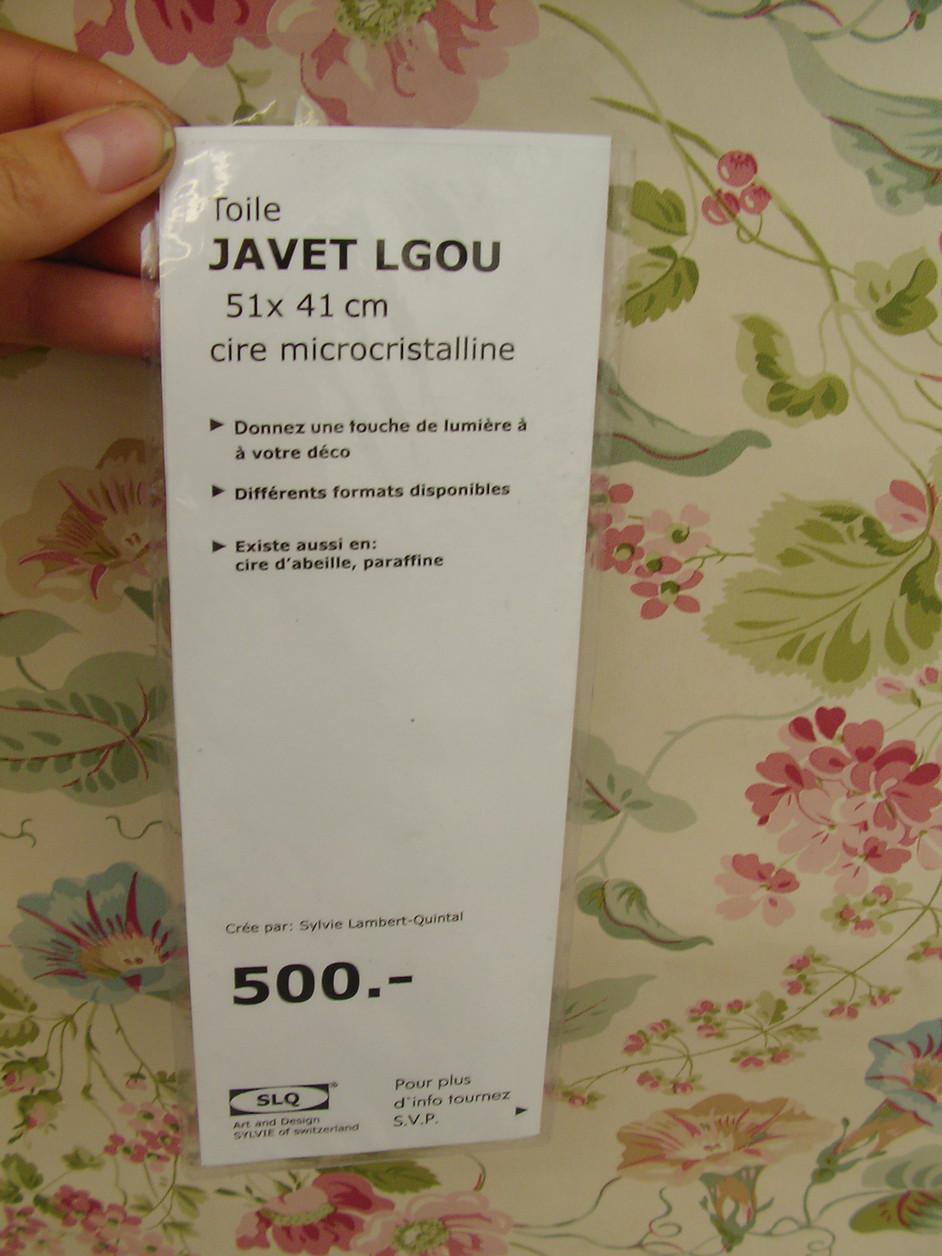 Detail of Javet Lgou