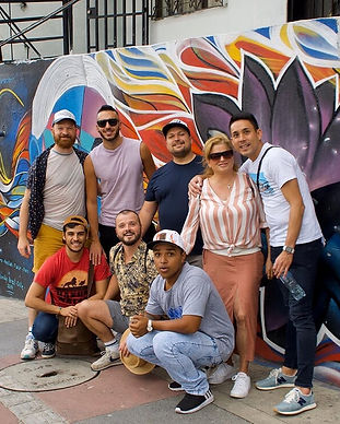 Gay travelers in Comuna 13, Medellin