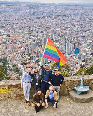 Gay travelers in Bogota